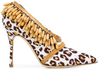 Manolo Blahnik Beaded Jacquard Pumps