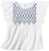 Carter's Baby Girl Embroidered Gauze Top
