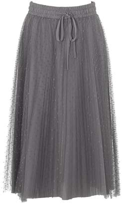 RED Valentino Pleated Bow Detail Skirt