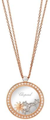 Chopard Happy Diamonds 18K Two-Tone Gold & Diamond Pave Charm Pendant Necklace