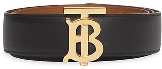 Burberry Monogram Motif Reversible Leather Belt