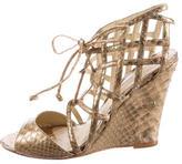 Alexandre Birman Metallic Python Sandals