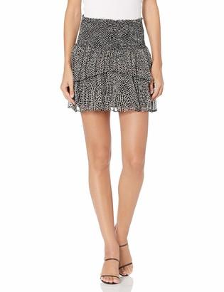 Ramy Brook Women's Printed Daria Ruffle Mini Skirt