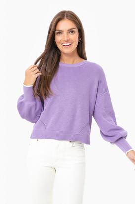 Eleven Six Azulene Layla Crew Sweater