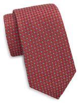 Saks Fifth Avenue Diamond Medallion Silk Tie