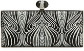 Judith Leiber Couture Vienna Coffered Large Clutch Bag, Silver
