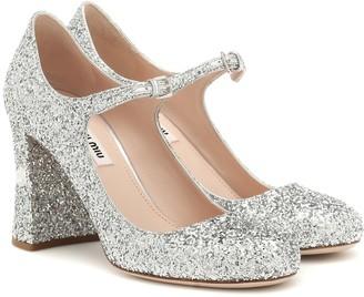 Miu Miu Glitter Mary Jane pumps