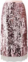 Tory Burch sequinned A-line skirt - women - Cotton/Polyamide/Polyester/Spandex/Elastane - M