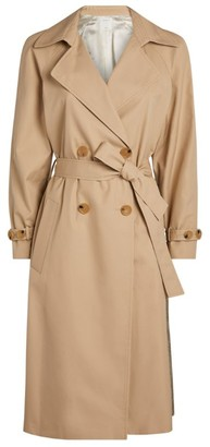 Sandro Paris Pleat Trench Coat