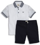 Armani Junior Armani Boys' Polo Shirt & Cotton Shorts Set - Little Kid, Big Kid