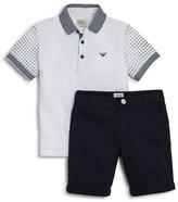 Giorgio Armani Boys' Polo Shirt & Cotton Shorts Set - Sizes 4-16