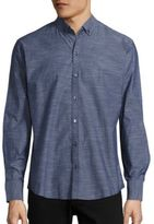 Zachary Prell Long Sleeve Denim Shirt