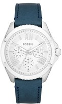 Fossil 'Cecile' Multifunction Leather Strap Watch, 40mm