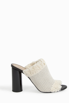 Proenza Schouler Canvas Frayed Mules