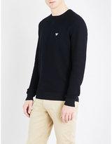 Armani Jeans Eagle-patch cotton-jersey sweatshirt