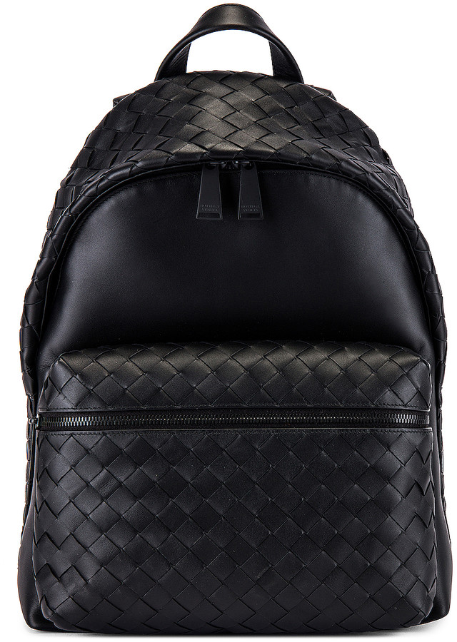 Bottega Veneta Backpack in Nero & Nero | FWRD