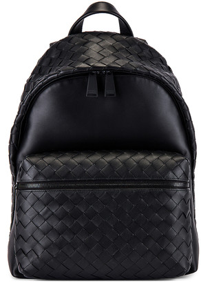 Bottega Veneta Backpack in Nero & Nero | FWRD
