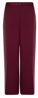 Dorothy Perkins Womens Damson Belted Wide Leg Trousers