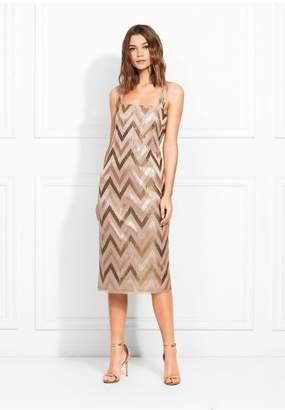 Rachel Zoe Eileen Chevron Sequin Midi Dress