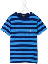 Ralph Lauren striped logo T-shirt - kids - Cotton - 8 yrs