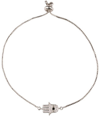 Mocha Magic Hamsa Bracelet-Silver