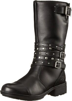 Harley-Davidson Women's Kennedy Black Boot 6.5 B - Medium