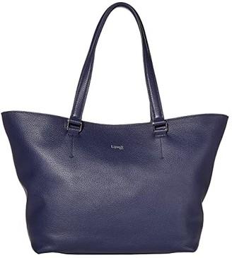 Lipault Paris Invitation Leather Tote Bag (Black) Bags