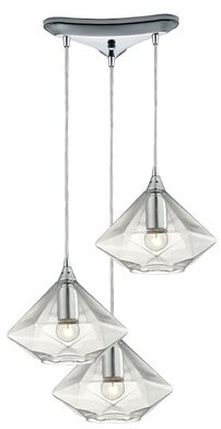 St Nicholas Brayden Studio 3 - Light Cluster Bell Pendant Brayden Studio Finish: Polished Chrome