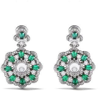 Chopard 18kt white gold Happy Diamonds earrings