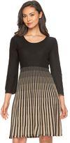 Dana Buchman Women's Striped Fit & Flare Sweaterdress