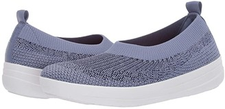 FitFlop Uberknit Slip-On Ballerina (Powder Blue/Aurora Blue) Women's Slip on Shoes