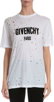 Givenchy Distressed Logo T-Shirt, White