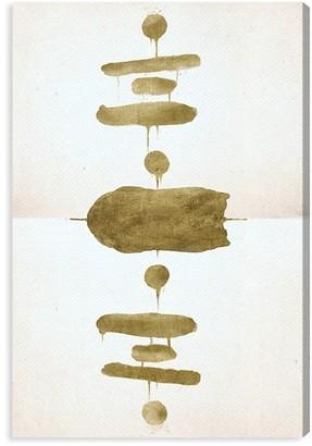 Oliver Gal Mirrored Equalibrium Gold Canvas Art
