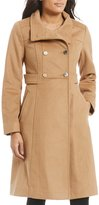 Eliza J Wool Double Breasted Stand Collar Military Coat