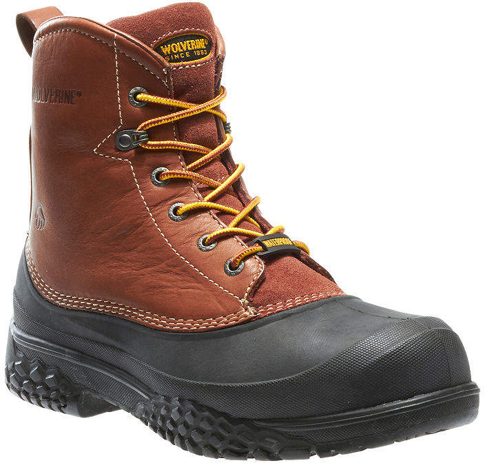 cfd6820a324 Mens Swamp Monster Waterproof Slip Resistant Steel Toe Lace-up Work Boots