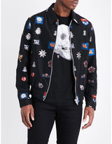 Alexander Mcqueen Embroidered-patches Harrington Jacket