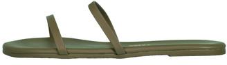 TKEES Green Gemma Vegan Leather Sandal