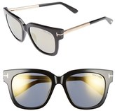 Tom Ford Women's 'Tracy' 53Mm Retro Sunglasses - Black/ Smoke Gold