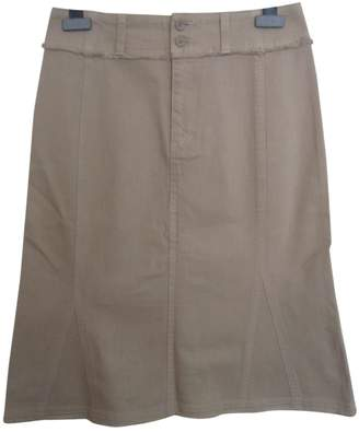 Atsuro Tayama Beige Cotton Skirt for Women