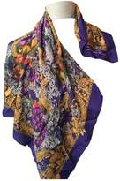 Oscar de la Renta Purple Silk Scarves