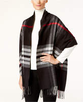 Charter Club Exploded Plaid Blanket Wrap and Scarf in One, Created for Macy's
