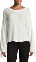 Ella Moss Lesya Tie-Sleeve Sweater, Natural