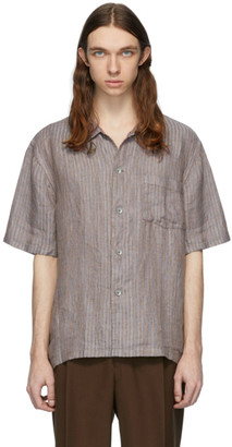 Our Legacy Blue and Brown Box Short Sleeve Shirt
