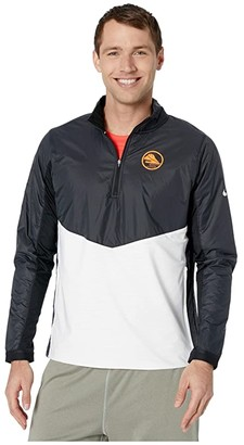 Nike Element Top 1/2 Zip Hy Ekiden (Black/White/Reflective Silver) Men's Clothing