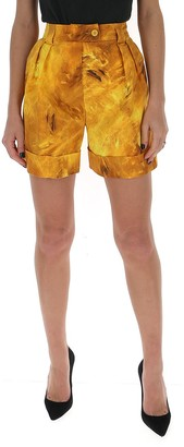Moschino Printed High Waist Shorts