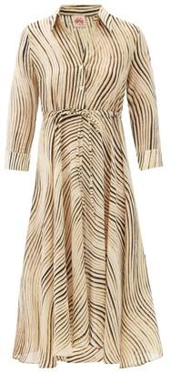 Le Sirenuse Positano Le Sirenuse, Positano - Lucy Wind-print Cotton Midi Shirt Dress - Black Print