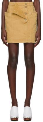 Jacquemus Brown La Jupe de Nimes Miniskirt
