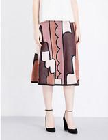 Roksanda Dalby metallic-knit jacquard skirt
