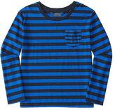 Ralph Lauren 7-16 Striped Jersey Long-Sleeve Tee