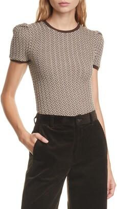 Polo Ralph Lauren Herringbone Puff Sleeve Merino Wool Sweater